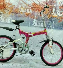 SEPEDA LIPAT UNITED QUEST FX 02 PINK FOLDING BIKE FULL SUSPENSION 6SP