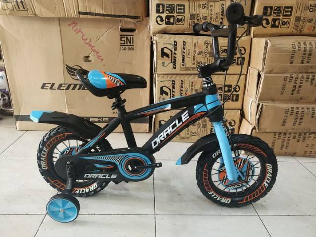 sepeda anak bmx 12 inch oracle by united genio